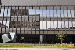 Palais de Justice in Montreal Royalty Free Stock Images