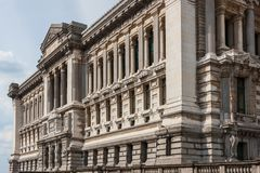 Palais de Justice, neoclassical architecture in Brussels, Belgium royalty free stock images