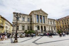 Palais DE Justice in Nice in Frankrijk royalty-vrije stock afbeeldingen