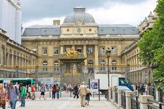 Palais DE Justice Parijs, Frankrijk Royalty-vrije Stock Foto