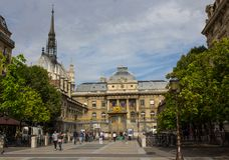 The Palais de Justice stock photography