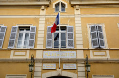 Palais de Justice, St Tropez, Francia fotografia stock libera da diritti