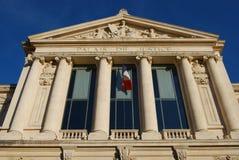Palais DE Justice wetshoven, Nice, Frankrijk Royalty-vrije Stock Afbeeldingen