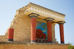 Palais de Knossos, Crète Image libre de droits