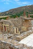 Palais de Knossos sur Crète, Grèce Photographie stock libre de droits