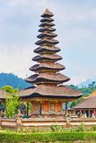 Palais de l'eau de Balinese sur le lac Bratan Photo libre de droits