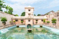 Palais de l'eau de Taman Sari de Yogyakarta sur l'île de Java Photographie stock