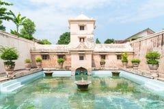 Palais de l'eau de Taman Sari de Yogyakarta sur l'île de Java Images stock