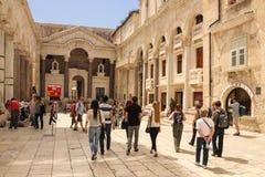 Palais de l'empereur Diocletian fractionnement Croatie photo libre de droits