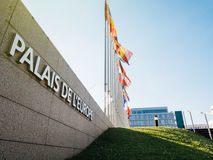 Palais De L ` Europe rada europy połówki masztu flaga afte rUK att Obrazy Stock