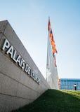 Palais De L ` Europe rada europy połówki masztu flaga afte rUK att Fotografia Stock