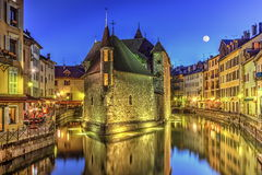 Palais de l'Ile jail and canal in Annecy old city Royalty Free Stock Photo