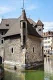 Palais de l Isle在阿讷西,法国 库存图片