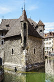 Palais de l Isle in Annecy, France. Palais de lIsle is a castle in the center of the Thiou canal in Annecy, France, built in 1132. The Palais de lIle was Stock Image