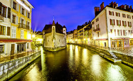 Palais de L'isle, Annecy, Frankrike Royaltyfri Fotografi