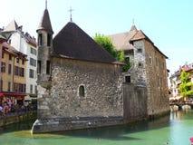 Palais de l Isle, Annecy (Frankrike) Arkivfoton