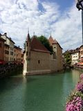 The Palais de l`Isle in annecy after restoration, France. Royalty Free Stock Photo