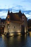 Palais de l'Isle em Annecy, France imagem de stock