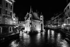 The Palais de l`Isle and Thiou river in Annecy Royalty Free Stock Image