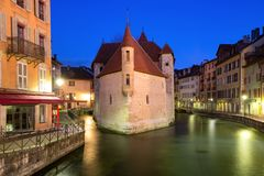 Night Annecy, France Royalty Free Stock Images