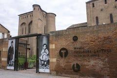 Albi, France. The Palais de la Berbie in Albi, France, now the Toulouse-Lautrec Museum Stock Photos