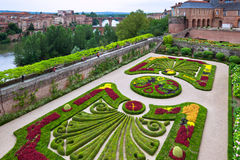 Palais de la Berbie Gardens at Albi, Tarn, France Royalty Free Stock Photos