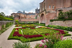 Palais de la Berbie Gardens at Albi, Tarn, France Royalty Free Stock Photo