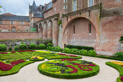 Palais de la Berbie Gardens at Albi, Tarn, France. ALBI, FRANCE - AUGUST 09: Palais de la Berbie Gardens at Albi, Tarn, France on August 09, 2014. Beautiful Royalty Free Stock Image