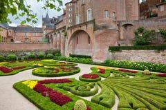 Palais de la Berbie Gardens at Albi, Tarn, France. ALBI, FRANCE - AUGUST 09: Palais de la Berbie Gardens at Albi, Tarn, France on August 09, 2014. Beautiful Stock Images