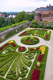 Palais de la Berbie Gardens at Albi, Tarn, France. ALBI, FRANCE - AUGUST 09: Palais de la Berbie Gardens at Albi, Tarn, France on August 09, 2014. Beautiful Stock Image