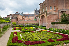 Palais de la Berbie Gardens at Albi, Tarn, France Stock Images