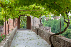 Palais de la Berbie Gardens Alley at Albi, Tarn, France Royalty Free Stock Photo