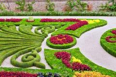 Palais de la Berbie Trädgård på Albi, Tarn, Frankrike Arkivfoton