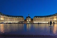 Palais de la a Bolsa no Bordéus, France Fotografia de Stock