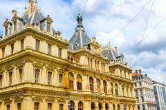 Palais de la Bourse also called du Commerce at Place des Cordelier in Lyon, France Stock Photography