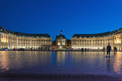 Palais de la Bourse at Bordeaux, France Stock Photography