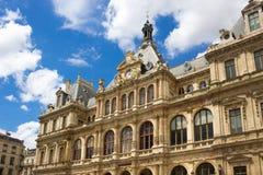 Palais de la Bourse inoltre ha chiamato du Commerce al DES Cordelier del posto a Lione, Francia Fotografia Stock Libera da Diritti