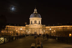 Palais de la Legion d'Honneur at night. Stock Photos