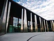 Palais de la Musique et des Congres expo musica hall. STRASBOURG, FRANCE - OCT 6, 2018: Palais de la Musique et des Congres expo musica hall in Strasbourg at royalty free stock photography