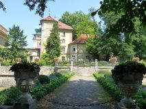 Palais de Lancut, Pologne Photo stock