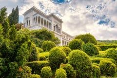 Palais de Livadia près de ville de Yalta, Crimée Images libres de droits