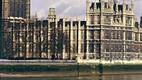 Palais de Londres Westminster banque de vidéos