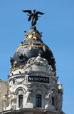 Palais de métropole à Madrid Photo libre de droits