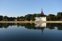 Palais de Mandalay dans Myanmar Image libre de droits