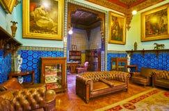 Palais de Manial de visite au Caire, Egypte photographie stock libre de droits