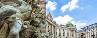 Palais de Michaelertrakt, Hofburg à Vienne, Autriche photographie stock libre de droits