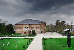 Palais de Mogosoaia le jour nuageux Images stock