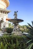 Palais de Monserrate dans la fontaine de Sintra Triton Photo libre de droits
