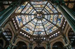 Palais de Mysore à l'intérieur de vue, Mysore, Karnataka, Inde Photographie stock libre de droits