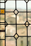 Palais de Papes窗口 库存照片